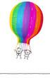 couple & big balloon