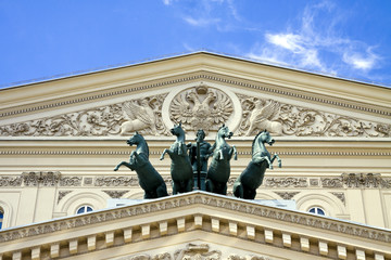 "Detail of the ""Bolshoi Theater"" in Moscow, Russia"