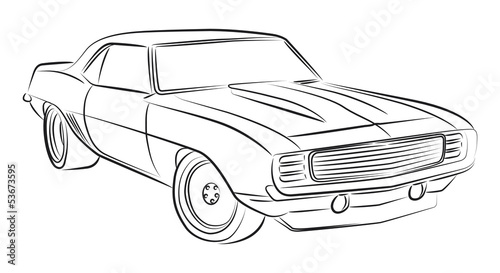 Muscle Car Drawing Buy Photos Ap Images Detailview