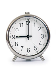 Alarm Clock, showing nine o'clock