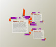 Abstract Infographics design, vector