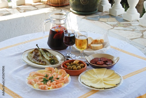 Tapas and Sangria, Spain © Arena Photo UK