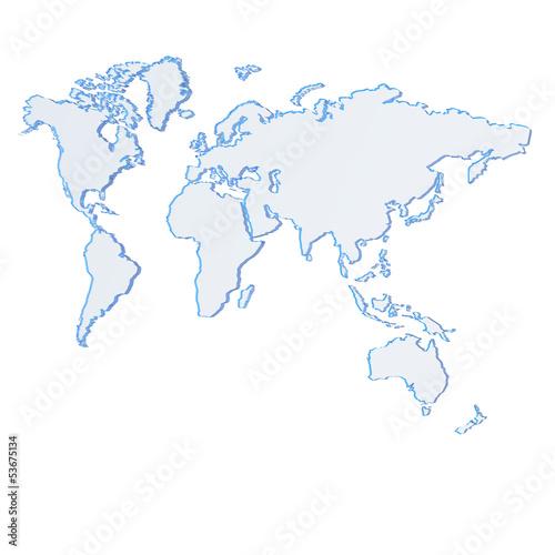 Karte, weltkarte, glas, blau, Map,