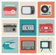 Retro Radio, TV and Other Electronic Equipment - 53675378
