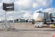 avion sur le tarmac, aéroport de Plaisance, Maurice