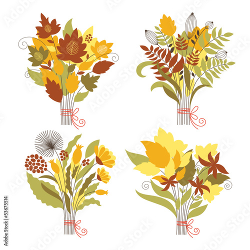 the four autumnal bouquets
