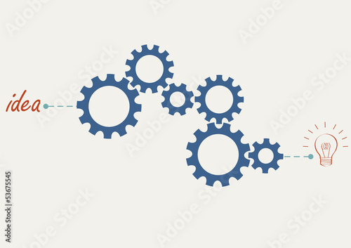 Concept vector with abstract gear wheels