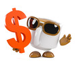 Coffee cup holds Dollars