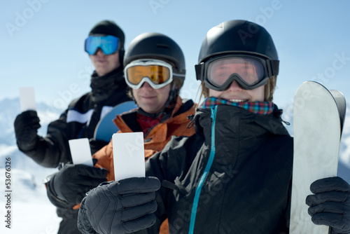 Ski admission fee ticket group of friends