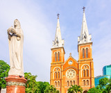 At the Notre-Dame Cathedral in Ho Chi Minh City, Vietnam