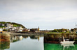 View of Portpatrick harbour with boat