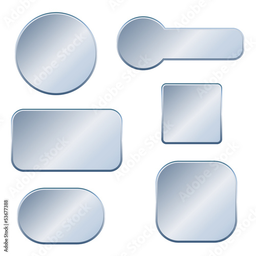 We design metallic buttons banners