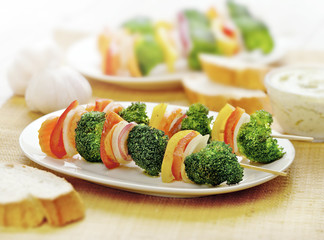 vegetarian skewer vegetables only
