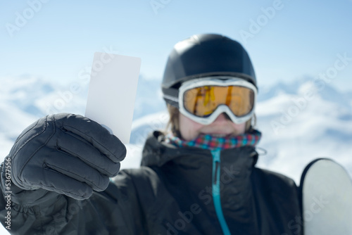 Concept to illustrate ski admission fee