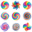 set of abstract colorful swirl shapes