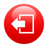 button output disconnect Internet icon red poster