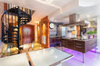 Neon lights in a kitchen