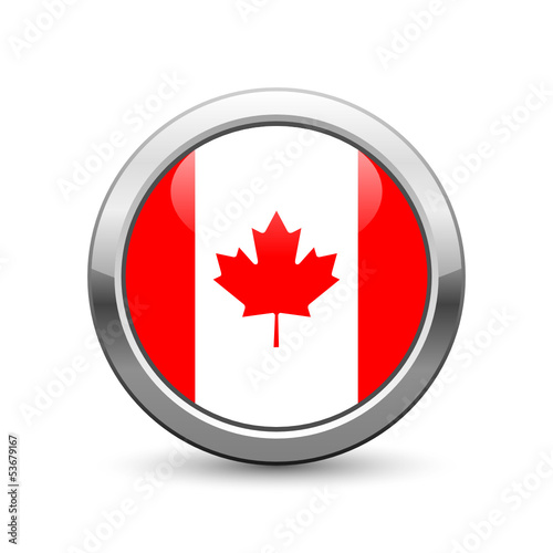 Canadian flag icon web button