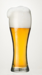 isolated glass with beer