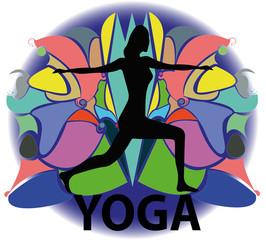 illustrazione di donna in posizione yoga