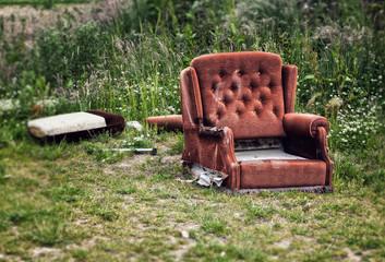 dumped chair