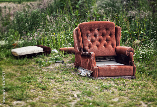 dumped chair
