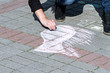 Drawing on asphalt