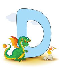 Alphabet, D Drache