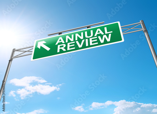 Annual review concept.