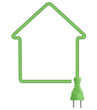 Ecological house electricity symbol