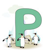 Alphabet, P Pinguin