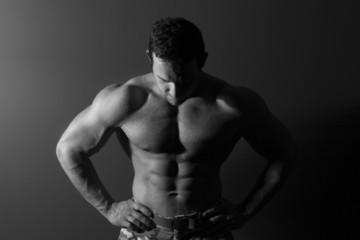 Sexy muscular model.