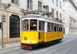Old yellow Lisbon tram, Portugal - 53682744
