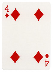 Playing Card - Four of Diamonds