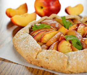 Tart with nectarines