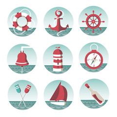 icons on the marine theme