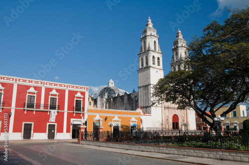 Independence square, Campeche (Mexico)