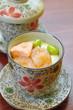 Salmon egg soup