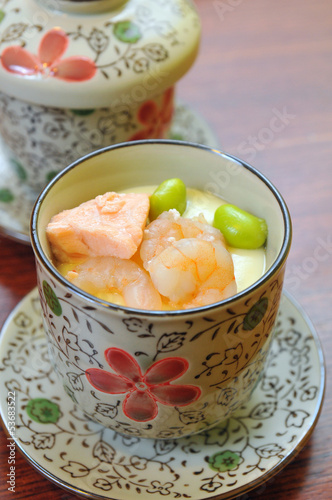 Salmon egg soup