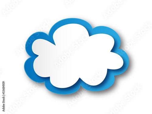 Cloud Icon (button symbol connector blank template vector logic)