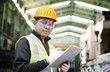 Portrait of asian industrial engineer