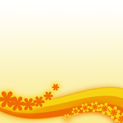 Summer orange background