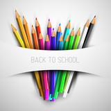 Fototapety Vector Back to school poster