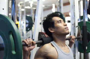 Man gym workout