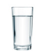 Leinwandbild Motiv water glass isolated with clipping path included