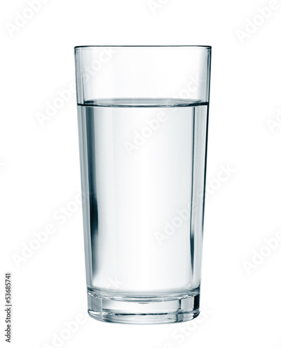 water glass isolated with clipping path included - 53685741