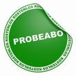 3D Aufkleber Grün - Probeabo