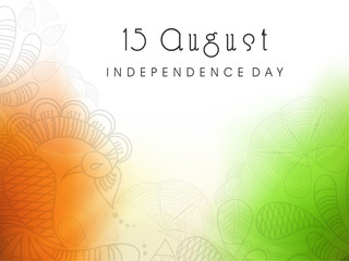 Beautiful floral background in national flag colors for Indian I