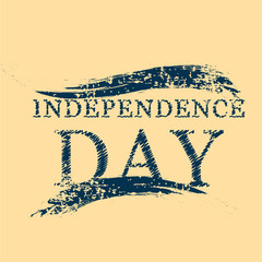 Independence Day text on isolated brown background.
