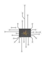 Electronic logo chip
